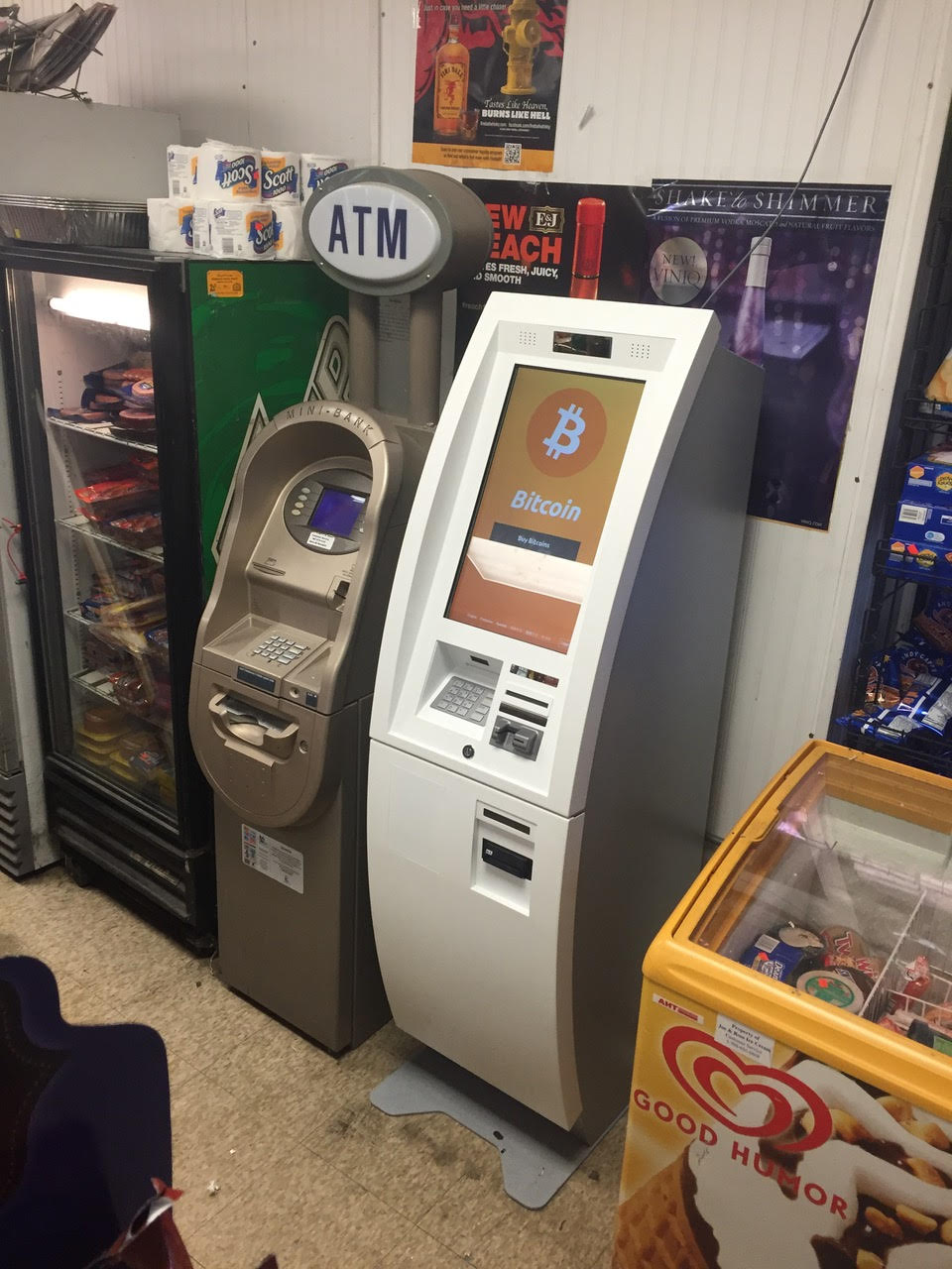 Bitcoin ATM Machine In King Food And Liquor South Side Chicago